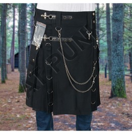 Men Modern Gothic Fashion Kilt Active Men Punk Detachable Pocket Kilt
