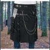 Rebelsmarket men modern gothic fashion kilt active men punk detachable pocket kilt kilts 2