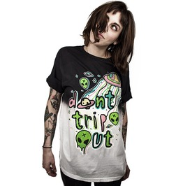 Punk Rock Alien Ufo World Don't Trip Out 3 D Loose T Shirt Women Men