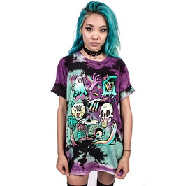 3 D Print Skull Alien Ufo World Monsters Oversize Shirt Women Men