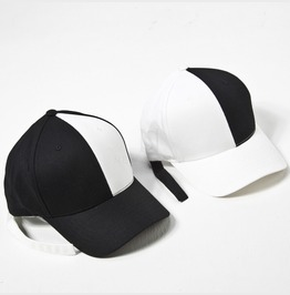 Black And White Contrast Ball Cap 20