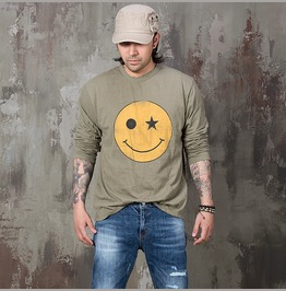 Distressed Smile Shirts 790