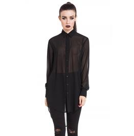 Jawbreaker Clothing Black Chiffon Boyfriend Shirt