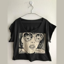 Fashion Pop Indie Crop Shirt Summer