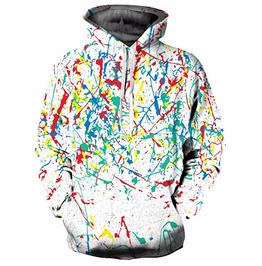 Harajuku Colorful Graffiti Hooded Sweatshirt Men Women