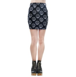 Women's Dripping Pentagram Mini Skirt