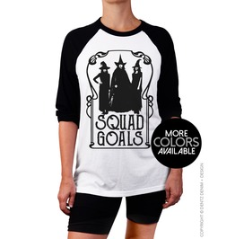 Witch Shirt, Halloween Shirt, Squad Goals, Raglan 3/4 Sleeve Baseball Tee