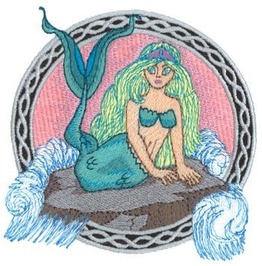 Embroidered Mermaid Sea Creature Patch