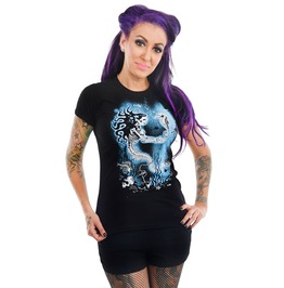 Women's Skeleton Mermaid Babydoll T Shirt