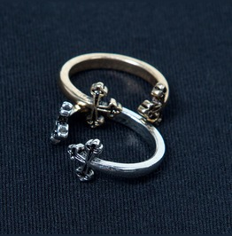 Adjustable Mister Double Cross Pinky Ring 36