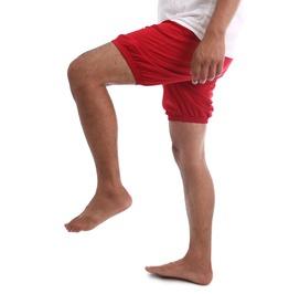 Rtbu Iyengar Yoga/Pole Dance Gym Split Flip Cotton Bloomer Shorts Red