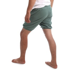 Rtbu Iyengar Yoga Pole Dance Gym Exercise Cotton Bloomer Shorts Lake Green