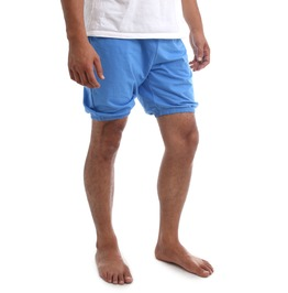 Rtbu Men Iyengar Yoga Dance Pilates Cotton Bloomer Shorts Crayon Blue