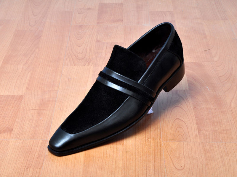 Handmade Mens Leather Shoes Men Formal Slip On Leather Moccasin Dress