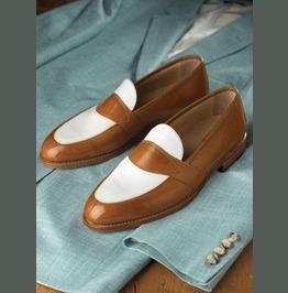 Handmade Mens Leather Shoes, Men Formal Slip On Leather Moccasin Dress Shoe