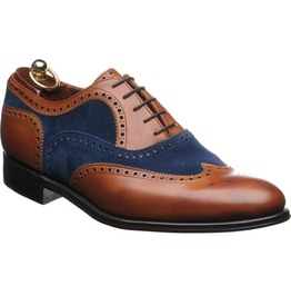 Handmade Men Two Tone Shoes, Men Suede Leather Shoes, Wingtip Brogue Dress