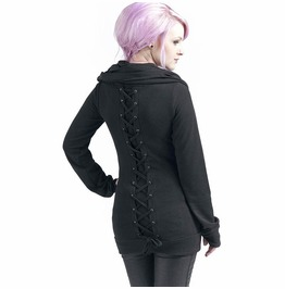 Lace Up Long Sleeve Women's Hoodie W Inter Autumn