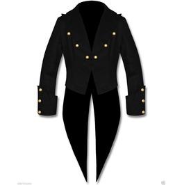 Men's Tailcoat Steampunk Goth Victorian Swallowtail Jacket In Blazer Wool