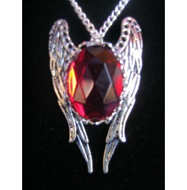 Necklace Red Stone Wings