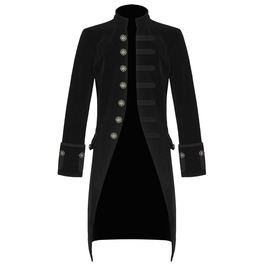 Men's Jacket Velvet Goth Steampunk Victorian Frock Coat Custom Stitch