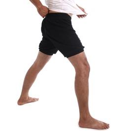 Rtbu Men Iyengar Yoga Dance Practice Pilates Cotton Bloomer Shorts Black