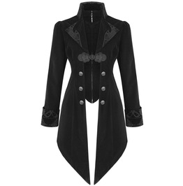Goth Women's Charlemagne Jacket Long Tail Custom Made Victorian Fashion Coat