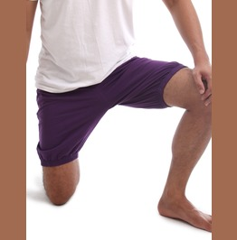 Rtbu Iyengar Yoga Pole Dance Gym Flip Exercise Cotton Bloomer Shorts Purple