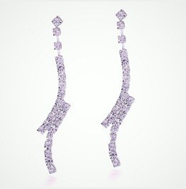 Simply Elegant Bridal Clear Silver Crystal Rhinestone Split Drop Earrings