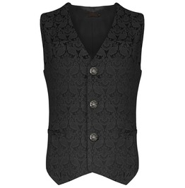 Men's Custom Made Gothic Steam Punk Vest In Brocade Fabric