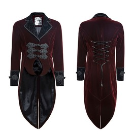 Gothic Aristocratic Lannister Tailcoat Maroon Steampunk Vampire Tailcoat