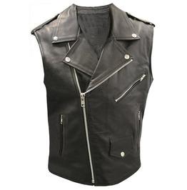 Men's Real Leather Biker Vest