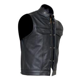 Men's Biker & Casual Vest In Premium Quality Lamb Leather