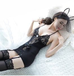 Women's Sexy Stretchy Lace Teddy Bodysuit Lingerie