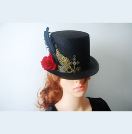 Handmade Retro Victorian Top Hat For Women
