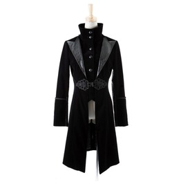 Gothic Lolita Victorian Aristocrat Jacket Black Velvet High Neck Jacket