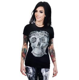 Babydoll Tee Ouija Skull