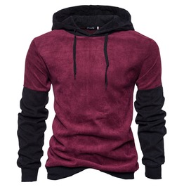 Men's Fashion Contrast Loose Hoodies