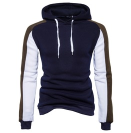 Men's Contrast Sleeve Slim Fitted Hoodies