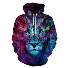 3 D Mystical Lion Hoodie