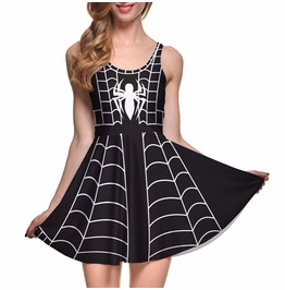 Spider Woman Halloween Stretchy Dress In Small To Plus Sizes