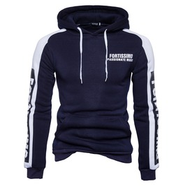Men's Letter Printed Contrast Hoodies