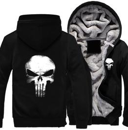 Black Fleece Punisher Comfy Hoodie Sweater For Men Or Women
