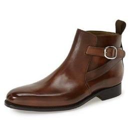 Handmade Men Brown Jodhpurs Ankle Boot, Men Brown Ankle Brown Formal Casual