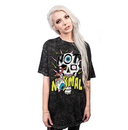 3 D Print Cartoon Punk Harajuku Skull Not Normal Loose T Shirt Women Men