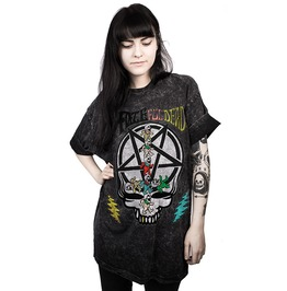 3 D Print Punk Skull Pentagram Fate Ful Dead Loose T Shirt Women Men