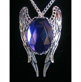 Necklace Blue Stone Wings Chain