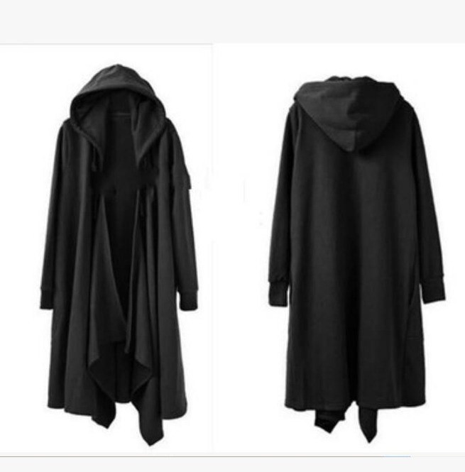 Mens Gothic Loose Casual Jacket Long Cloak Cape Coat 151990