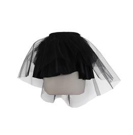 Women's Asymmetric Black Tulle Skirt