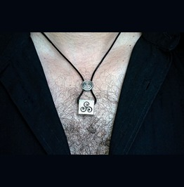 Mens Necklace Pendant Bdsm Symbol Triskele Triskelion Dominant Man Jewelry