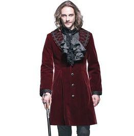 Gothic Red Men's Vintage Coat